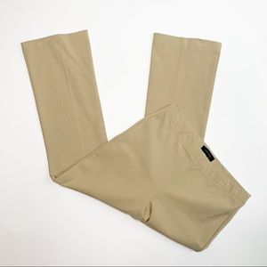 Ann Taylor Stretchy Career Cropped Pants Tan Small